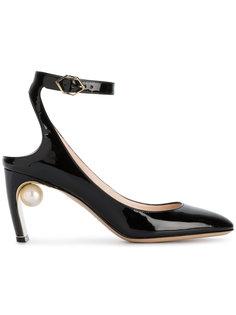 туфли-лодочки на среднем каблуке с искусственным жемчугом Lola Nicholas Kirkwood