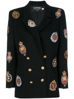 пальто с вышивкой  Chanel Vintage