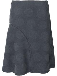 юбка А-образного силуэта с рисунком в горох Nina Ricci