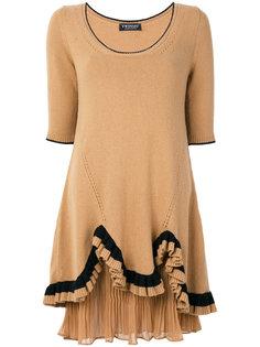 платье-джерси с оборками на подоле Twin-Set