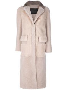 fur long coat Blancha