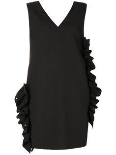 платье шифт с V-образным вырезом  MSGM