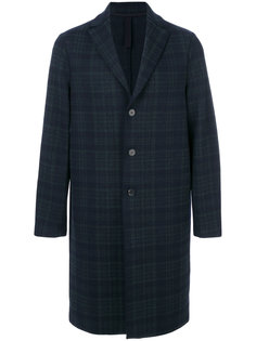 пальто в шотландскую клетку Harris Wharf London
