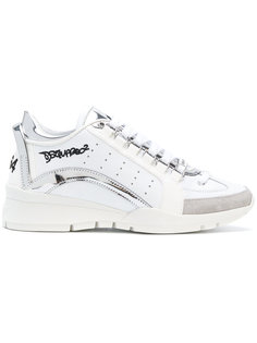 кроссовки с отделкой в стиле граффити  Dsquared2