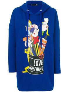 oversized logo hoodie  Love Moschino