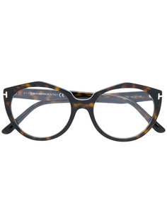 oval frame glasses Tom Ford Eyewear