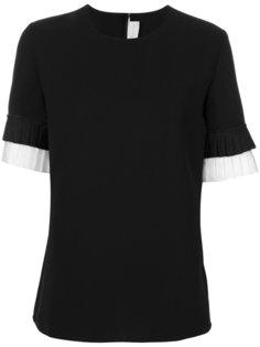 футболка с плиссированными манжетами Victoria Victoria Beckham