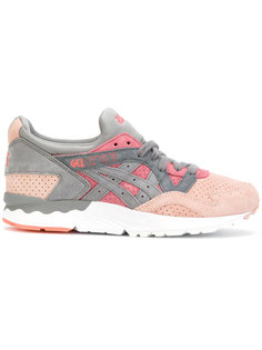 contrast lace up trainers  Asics