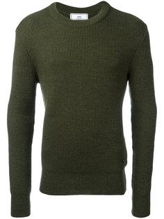 свитер вязки в рубчик с круглым вырезом Ami Alexandre Mattiussi
