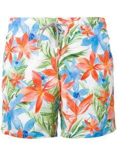 шорты для плавания с тропическим принтом Mc2 Saint Barth