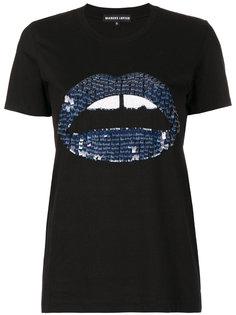 футболка с темно-синей отделкой Kate Markus Lupfer