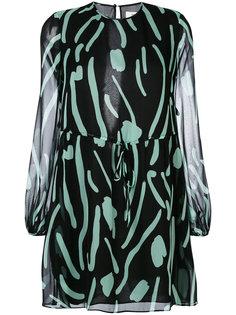 платье со стяжкой на поясе Diane Von Furstenberg