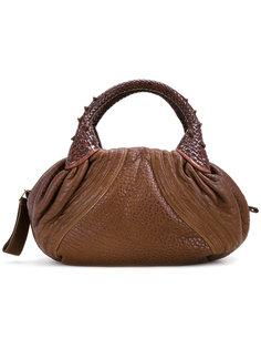 фактурная сумка-тоут Fendi Vintage