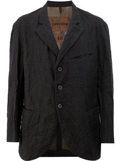 пиджак свободного кроя с эффектом помятости Ziggy Chen