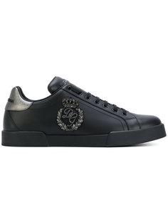 кроссовки с вышивкой логотипа Dolce & Gabbana