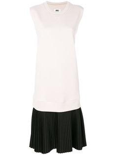 платье с плиссировкой  Mm6 Maison Margiela