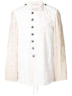 асимметричная куртка с контрастными рукавами Ann Demeulemeester