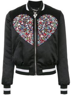куртка-бомбер с кристаллами Swarovski Philipp Plein