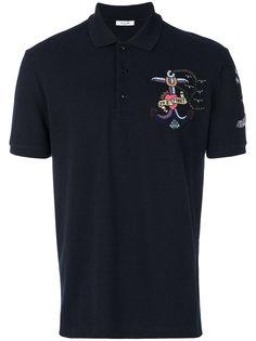 футболка-поло с вышивкой Valentino
