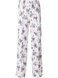 широкие брюки с цветочным принтом  MSGM