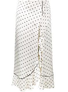 асимметричная юбка в горошек Ganni