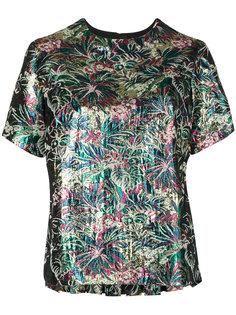 блузка с жаккардовым цветочным узором  MSGM