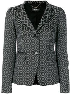 жаккардовый пиджак с геометрическим принтом Twin-Set