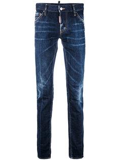 узкие джинсы с выбеленным эффектом Dsquared2