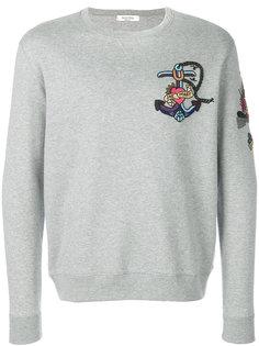 embroidered tattoo sweatshirt Valentino