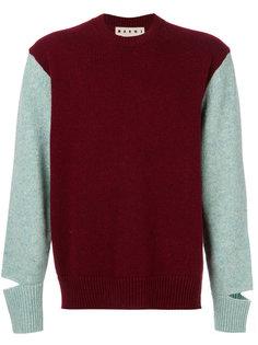 свитер в стиле колор блок Marni