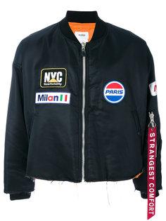 куртка-бомбер с заплатками Doublet