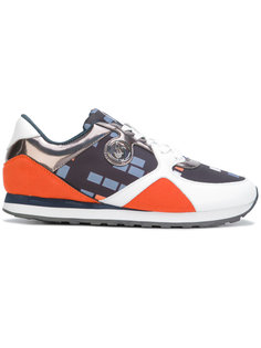 кроссовки с геометрическим принтом Armani Jeans