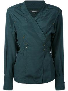 блузка с запахом и заклепками Isabel Marant