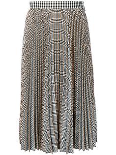 клетчатая плиссированная юбка MSGM
