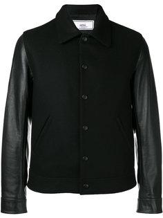 куртка-бомбер Bimaterial Ami Alexandre Mattiussi