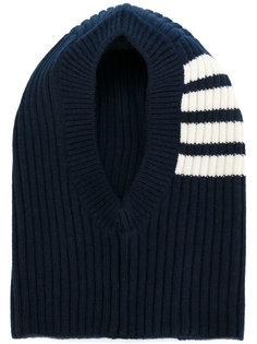 полосатая шапка в рубчик  Thom Browne