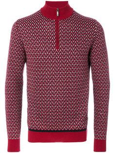 свитер с горловиной на молнии Brioni
