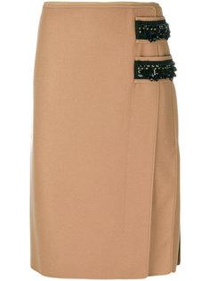 декорированная юбка-карандаш Nº21