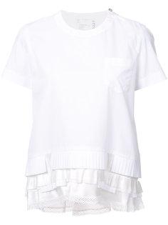 футболка с оборками Sacai