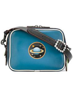 сумка на плечо с нашивкой планеты Coach