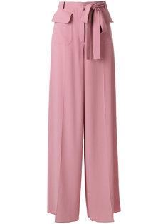 расклешенные широкие брюки Valentino
