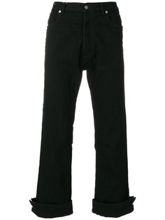 укороченные брюки с манжетами на пуговицах Maison Margiela
