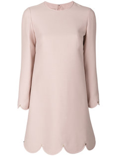 платье шифт с фигурной отделкой  Valentino
