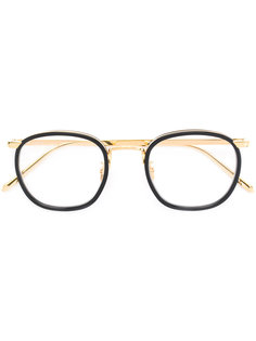oval frame glasses Linda Farrow