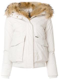 куртка-бомбер с меховым воротником Woolrich
