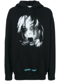 Screaming Girl Over hoodie Off-White