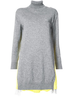 свитер с контрастной панелью Sacai
