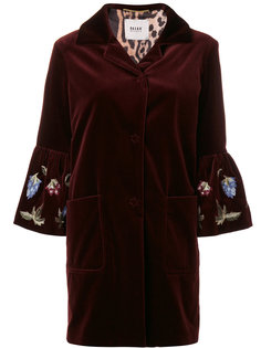 velvet embroidered sleeve coat Bazar Deluxe