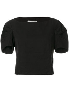 укороченная блузка с короткими рукавами Yves Saint Laurent Vintage
