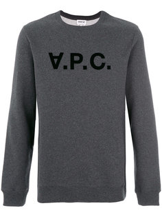 appliqué logo sweatshirt  A.P.C.